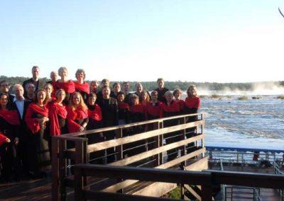 Carmina Mundi an den Iguacu Wasserfällen in Brasilien (18.10.2010)