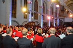 Pressefoto des Aachener Chors Carmina Mundi Kirchennacht 2014 City-Kirche