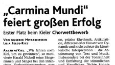 2006-06-07_Aachener Nachrichten Chorwettbewerb Carmina Gewinn