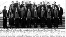2007-05-22_Aachener Zeitung_Chorfestival Albanien Carmina