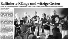 2009-06-08_Aachener Zeitung Chorbiennale Eröffnungskonzert Carmina