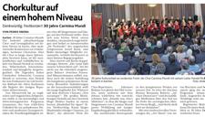 2013-03-04_Aachener Nachrichten 30 Jahre Jubiläum Carmina