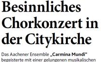 2014_12_16_Aachener Nachrichten weihnachtskonzert Carmina